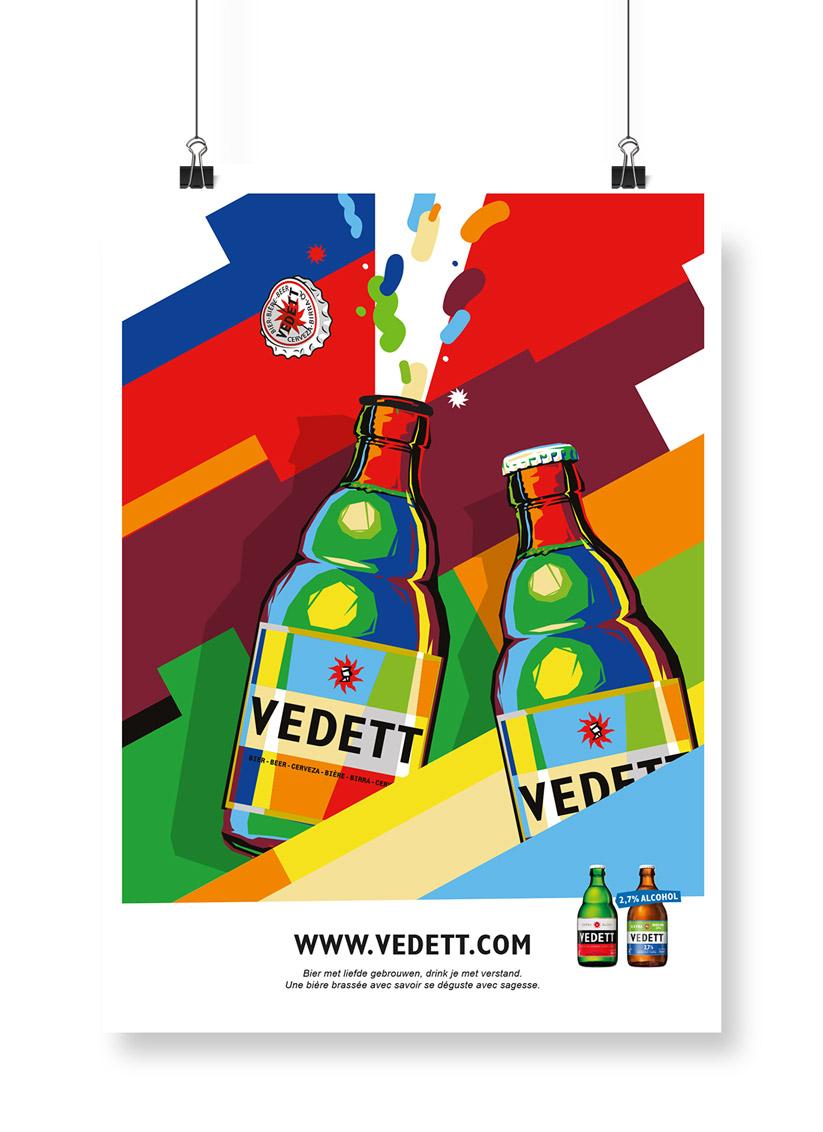 Vedett poster