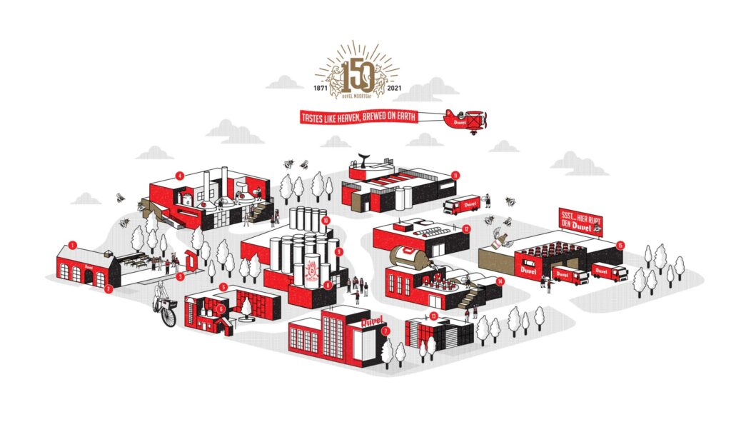 Duvel 150 Years - Brewery Map